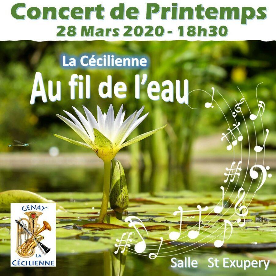 Visuel concert de printemps de la Cécilienne