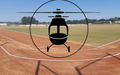 Mercredi 1 juillet : l'éclairage du Parc Arthur Roche arrive par hélicoptère !