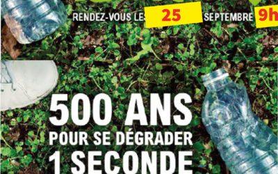 Les inscriptions sont ouvertes ! Nettoyons la nature samedi 25 septembre 2021.