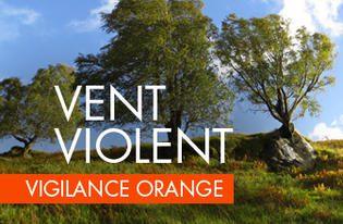 Alerte météo : Vigilance Orange Vents Violents