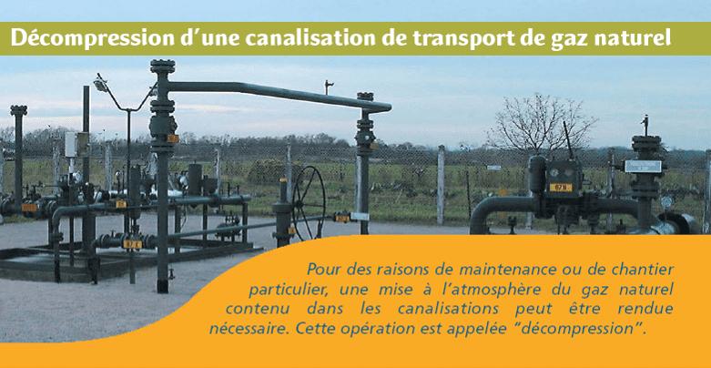 DECOMPRESSION DE GAZ : le 25/11 entre 14h et 19h