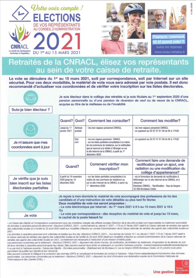 Affiche election CNRACCL 2021